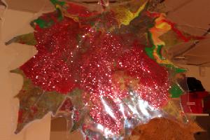 Laminerat rött höstlöv
