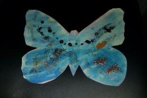 Blå fjäril 600