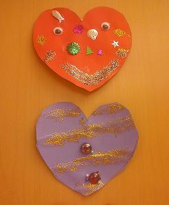 Hjärtan i papper till Alla hjärtans dag