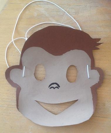 ansiktsmask föreställande en apa