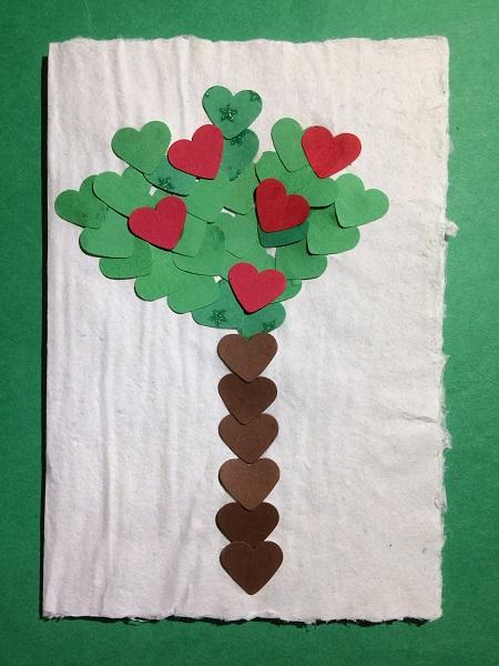 Presentkort - träd av hjärtan