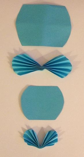 Dragspelsvik pappershjärtan så blir de en fjäril eller ett hjärta