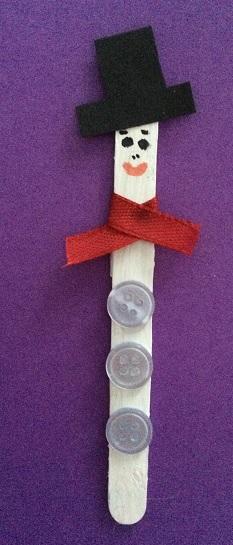 julfigurer på endast en glasspinne