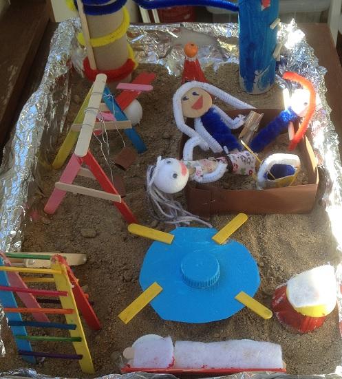 Ett grupparbete som blev en lekpark