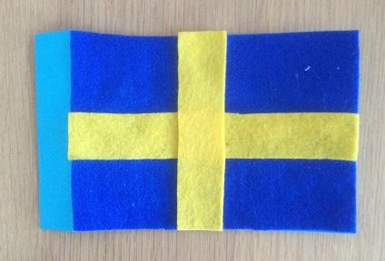 flagga av filttyg på papper