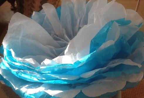 Näckros av silkespapper