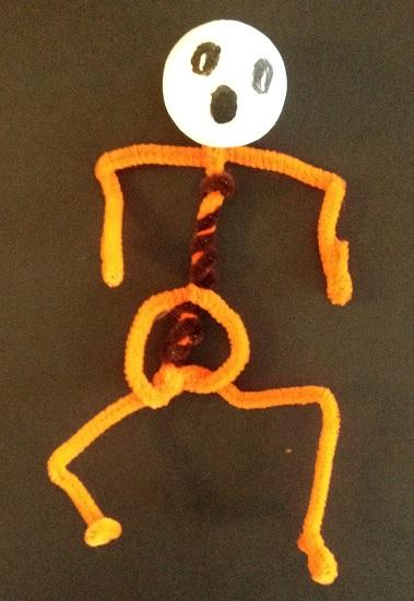 skelett av piprensare