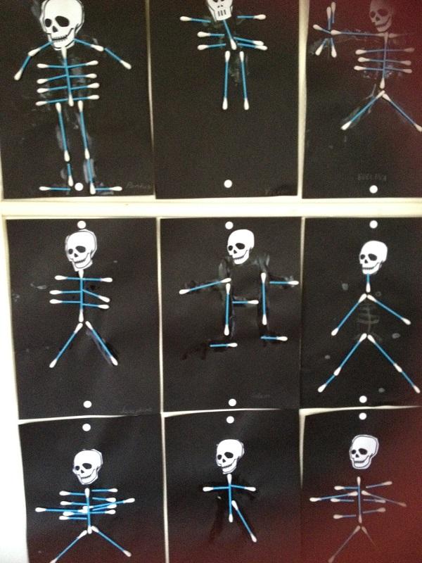 Skelett av tops