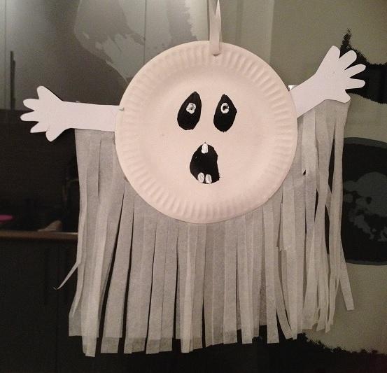 spöke med fransar på tallrik