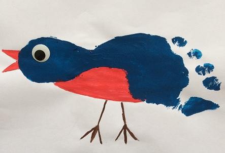 Fågel av fotavtryck
