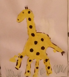 giraff av handtryck