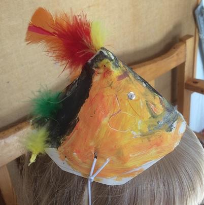 Målad hatt till påsken