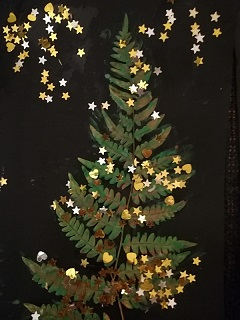 Julgran av ormbunke