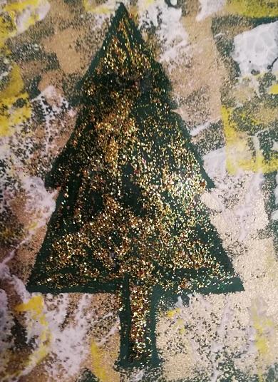 julgransmall med färg runt